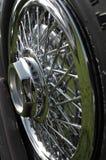 Roda de Spoked do cromo Foto de Stock Royalty Free