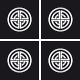 Roda de Sun, símbolo solar celta Foto de Stock