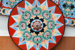 Roda de um oxcart pintado, Sarchi/Costa Rica foto de stock