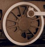 Roda de uma locomotiva de vapor fotografia de stock royalty free