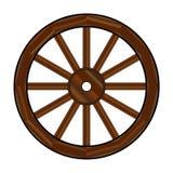 Roda de vagão coberto ilustração stock