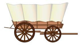 Roda de vagão coberto Foto de Stock Royalty Free