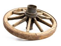 Roda de vagão de madeira velha imagem de stock