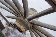 A roda de vagão quebrada Imagens de Stock