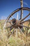 Roda de vagão velha Foto de Stock