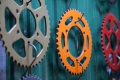 Roda dentada colorida para a motocicleta Imagem de Stock Royalty Free