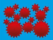 A roda denteada da ilusão ótica roda o movimento ilusório Imagens de Stock Royalty Free