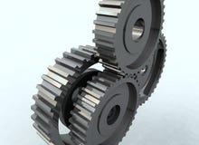 Roda denteada da roda de engrenagem Fotos de Stock Royalty Free
