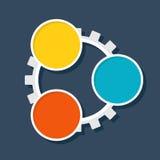 Roda denteada do molde de Infographic Imagens de Stock