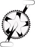 Roda denteada e manivelas Fotografia de Stock