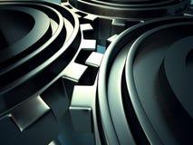 A roda denteada metálica alinha o fundo industrial Foto de Stock