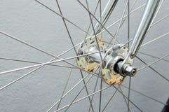 Roda dianteira da bicicleta Imagem de Stock