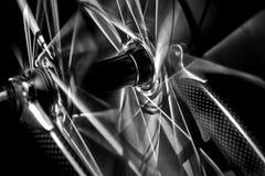 Roda dianteira da bicicleta Foto de Stock