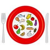 Roda do alimento ilustração stock