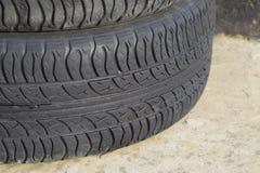 roda do automóvel Pneus de borracha Borracha do verão ajustada para o carro W Fotografia de Stock Royalty Free