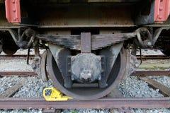 Roda do detalhe de um vagão railway Fotografia de Stock