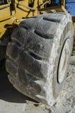 Roda do escavator grande fotografia de stock