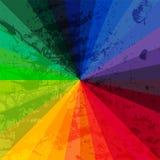 Roda do espectro feita dos tijolos CCB do grunge do espectro de cor do arco-íris Imagem de Stock