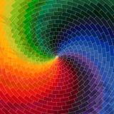 Roda do espectro feita dos tijolos CCB do grunge do espectro de cor do arco-íris Imagem de Stock Royalty Free
