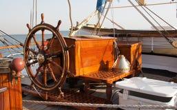 Roda do navio fotografia de stock