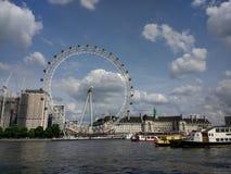 Roda do olho de Londres Imagem de Stock