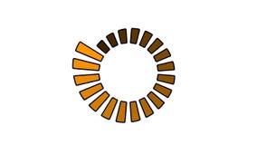 Roda do progresso - tamanho e cor crescentes, dar laços sem emenda ilustração royalty free