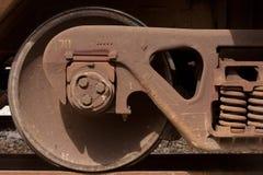 Roda do Railcar imagens de stock