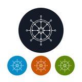 Roda do ` s do navio do ícone, ilustração do vetor Imagens de Stock