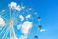 Roda do whith de Ferris fotos de stock