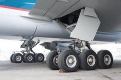 Roda dos aviões foto de stock
