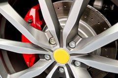 Roda e almofada de freio Foto de Stock Royalty Free