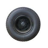 Roda e pneu isolados do caminhão foto de stock royalty free