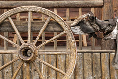 Roda e sela de vagão Imagem de Stock Royalty Free