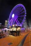 Roda feericamente de Hong Kong na noite Imagens de Stock Royalty Free