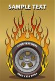 Roda flamejante Ilustração do Vetor