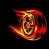 Roda flamejante Fotografia de Stock