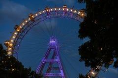 Roda gigante de Viena na noite Fotos de Stock Royalty Free