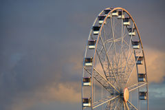 Roda grande branca Foto de Stock Royalty Free