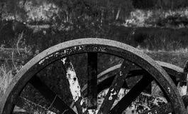 Roda grande oxidada Imagem de Stock