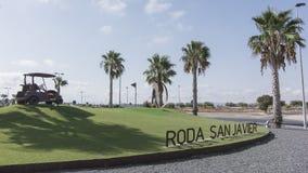Roda guld- kurs - Murcia Spanien Europa Arkivfoton