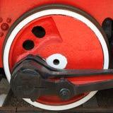 Roda locomotiva vermelha Imagens de Stock Royalty Free