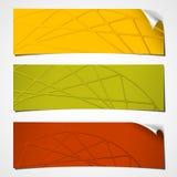 Roda ondulada bandeiras Fotografia de Stock Royalty Free