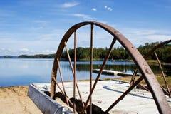 Roda oxidada Imagem de Stock Royalty Free