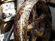 Roda oxidada Fotografia de Stock