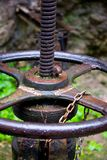 Roda oxidada do desligamento Fotos de Stock Royalty Free
