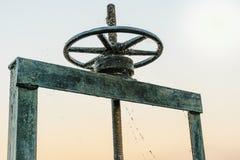 Roda para a água do dreno Foto de Stock