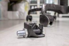 Roda quebrada da cadeira Fotografia de Stock