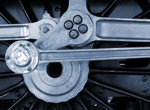 Roda Railway do motor Fotos de Stock Royalty Free