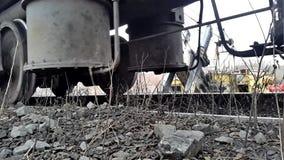 Roda Railway Vista da parte inferior filme