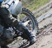 Roda traseira da bicicleta da sujeira foto de stock royalty free
